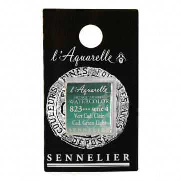 ACQUERELLO SENNELIER ½ GOD 823 S4 CADMIUM GREEN LIGHT