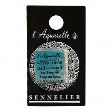 ACQUERELLO SENNELIER ½ GOD 843 S4 TURQUOISE GREEN