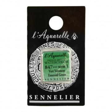 ACQUERELLO SENNELIER ½ GOD 847 S1 EMERALD GREEN