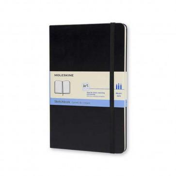 MOLESKINE LARGE SKETCHBOOK ACID FREE 165 g/m² BLACK 13X21 cm