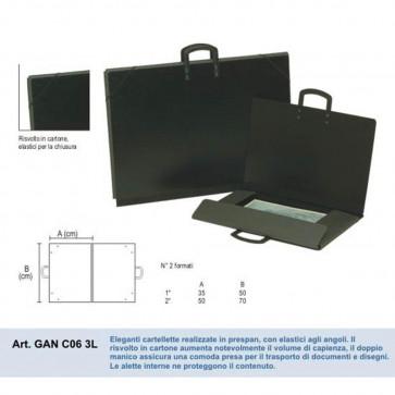 CARTELLA PORTADISEGNI 50X70 cm CARTONE PRESPAN CON MANICO