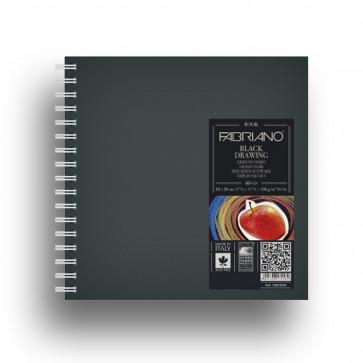 BLOCCO DRAWING 15X15 40 FOGLI NERI MURILLO 190 g/m² SPIRALE