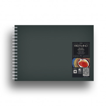 BLOCCO DRAWING 21X30 40 FOGLI NERI MURILLO 190 g/m² SPIRALE