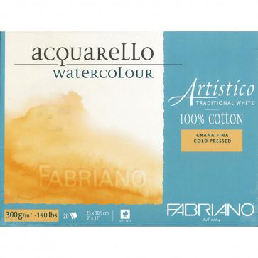 BLOCCO TRADITIONAL WHITE 23X30 20 FG. 300 g/m² GRANA FINE