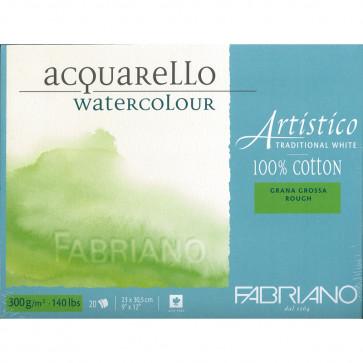 BLOCCO TRADIZIONAL WHITE 23X30 20 FG. 300 g/m² GRANA GROSSA