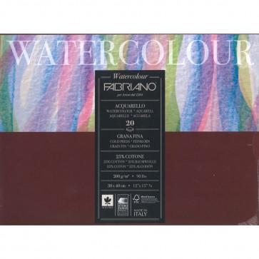 BLOCCO WATERCOLOUR 30X40 20 FOGLI 200 g/m² GRANA FINE