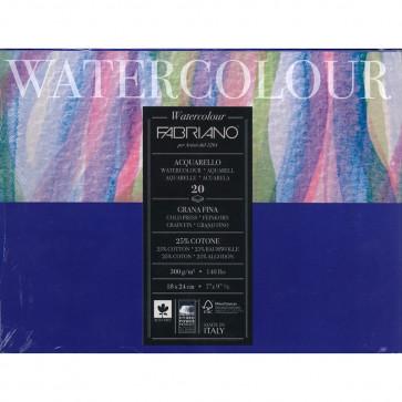 BLOCCO WATERCOLOUR 18X24 20 FOGLI 300g g/m² GRANA FINE