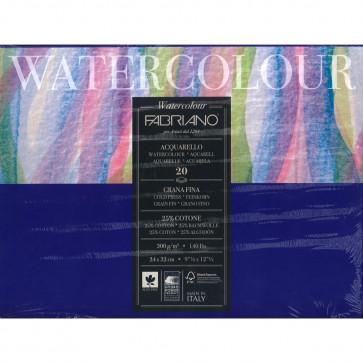 BLOCCO WATERCOLOUR 24X32 20 FOGLI 300 g/m² GRANA FINE