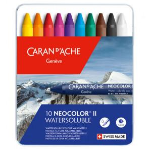 CARAN D'ACHE NEOCOLOR II      10 PASTELLI ACQUERELLABILI