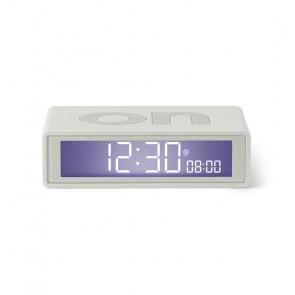 LEXON FLIP + SVEGLIA LCD RADIOCONTROLLATA RUBBER WHITE