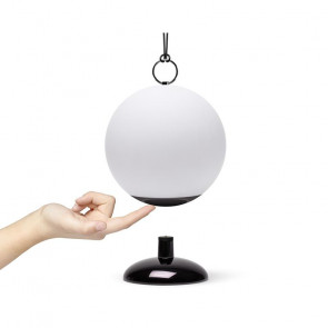 LEXON CLOCHE LAMPADA LED RICARICABILE BLACK & WHITE
