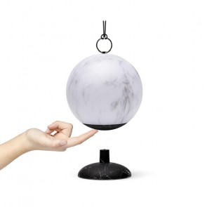 LEXON CLOCHE LAMPADA LED RICARICABILE BLACK & WHITE MARBLE