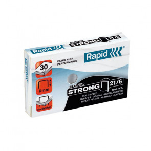 PUNTI PER CUCITRICE RAPID S-21 6 mm 1M PUNTI SUPER STRONG