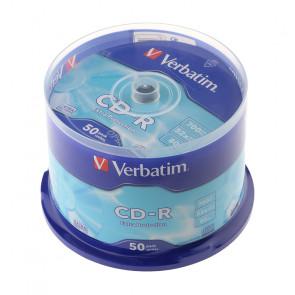 CD-R VERBATIM 700MB 52X 80min. CAMPANA 50 PEZZI