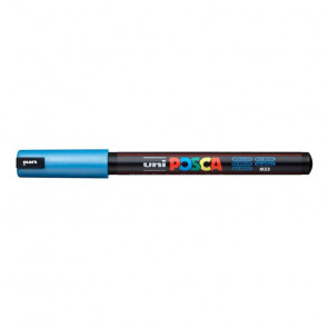 UNIPOSCA PENNA PC-1MR/MD 0.7mm COLORE BLU METALLICO M33