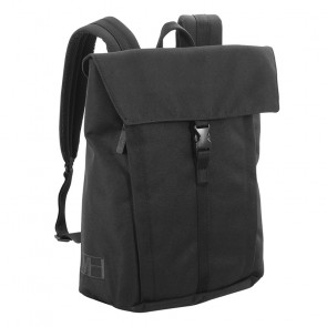 MH WAY BELL BACKPACK MEDIUM   WITH FLAP 1 BUCKLE BLACK