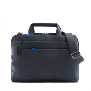 NAVA CROSS BRIEFCASE SLIM     BLACK/C.BLUE