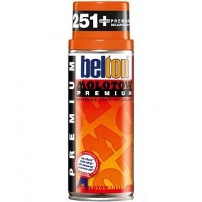 MOLOTOW PREMIUM BELTON 400 ml COLORE 012 PASTEL ORANGE