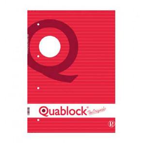 QUADERNO QUABLOCK A5 PAGINE FORATE STACCABILI RIGO 1R