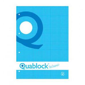 QUADERNO QUABLOCK A5 PAGINE FORATE STACCABILI QUADRETTO 4 mm