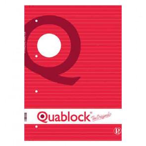 QUADERNO QUABLOCK A4 PAGINE FORATE STACCABILI RIGO 1R