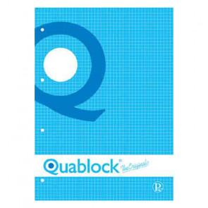 QUADERNO QUABLOCK A4 PAGINE FORATE STACCABILI QUADRETTO 4 mm