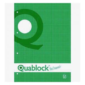 QUADERNO QUABLOCK A4 PAGINE FORATE STACCABILI QUADRETTO 5 mm