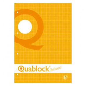 QUADERNO QUABLOCK A4 PAGINE FORATE STACCABILI QUADRETTO 10mm