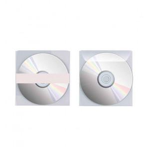 25 BUSTE PORTA CD/DVD CON PATTELLA E BANDA ADESIVA SUL RETRO