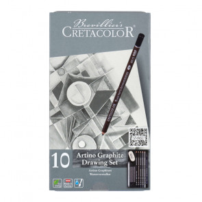 SET CRETACOLOR ARTINO DRAWING GRAPHITE ASSORTIMENTO 10 PEZZI