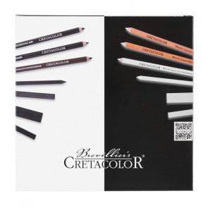 SET CRETACOLOR BLACK & WHITE ASORTIMENTO 25 PEZZI BOX LEGNO