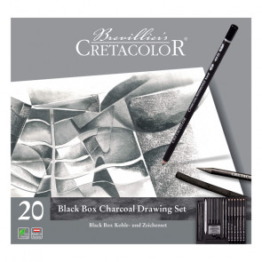 SET CRETACOLOR BLACK BOX CHARCOAL ASSORTIMENTO 20 PEZZI