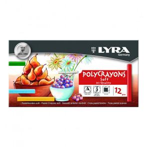 LYRA POLYCRAYONS SOFT 12 GESSETTI MORBIDI