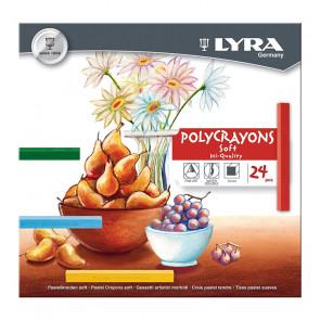 LYRA POLYCRAYONS SOFT 24 GESSETTI MORBIDI