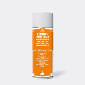 VERNICE FINALE OPACA BOMBOLA SPRAY 400 ml