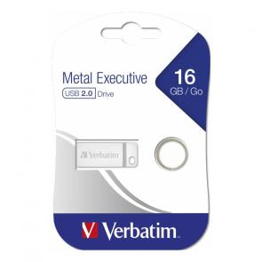 PENDRIVE USB 2.0 VERBATIM METAL EXECUTIVE 16 GB ARGENTO