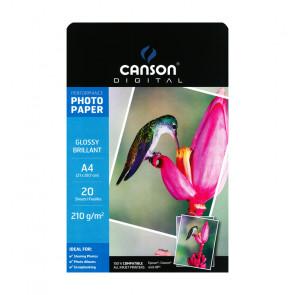 CARTA FOTOGRAFICA A4 210 g/m² GLOSSY 20 FOGLI