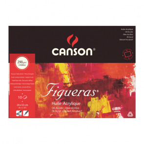 BLOCCO CANSON FIGUERAS 24X33cm 10 FOGLI 290 g/m²