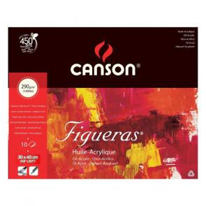 BLOCCO CANSON FIGUERAS 30X40cm 10 FOGLI 290 g/m²