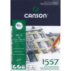 BLOCCO CANSON 1557 A4 30 FOGLI 180 g/m² COLLATI LATO CORTO