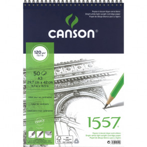 BLOCCO CANSON 1557 A3 50 FOGLI 120 g/m² RILEGATI A SPIRALE