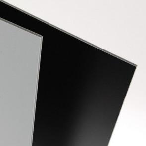 FOGLIO CARTON PLUME DOMINO 50X70 cm NERO/GRIGIO SPESS. 5 mm