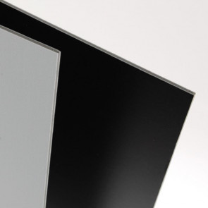 FOGLIO CARTON PLUME DOMINO 70X100 cm NERO/GRIGIO SPESS. 5 mm