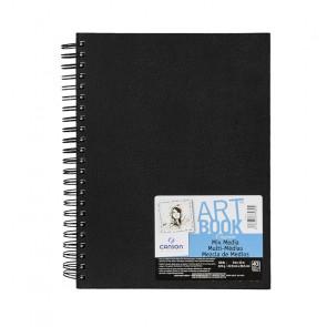 ART BOOK C À GRAIN 23X30,5 cm 40 FOGLI 224 g/m² RIL. SPIRALE