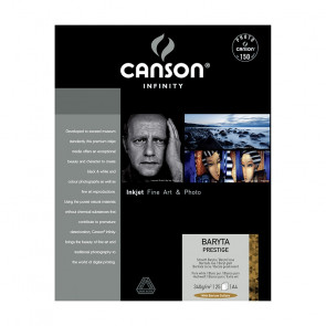 CANSON BARYTA PRESTIGE 340 g/m A4 21x29,7 25 FOGLI