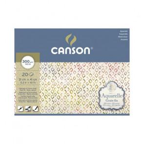 BLOCCO CANSON AQUARELLE 31X41 cm 20 FF 300 g/m  GRANA FINE