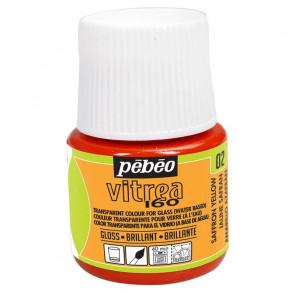 COLORE PER VETRO PEBEO VITREA  160 45 ml 02 SAFFRON YELLOW