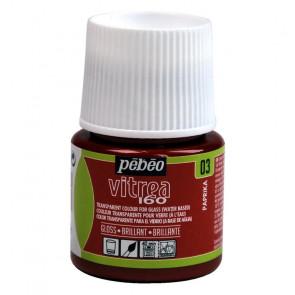 COLORE PER VETRO PEBEO VITREA  160 45 ml 03 PAPRIKA