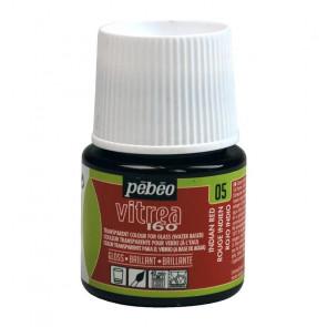 COLORE PER VETRO PEBEO VITREA  160 45 ml 05 INDIAN RED