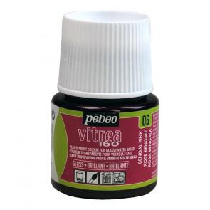 COLORE PER VETRO PEBEO VITREA  160 45 ml 06 BENGAL PINK